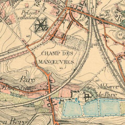 Toestand van het terrein in 1904