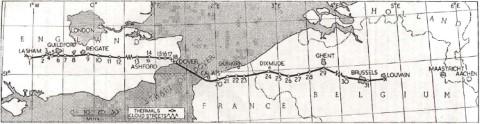 Op 14 mei 1955 landen Welch and Irving in Leuven met hun Slingsby T.42 Eagle, na de eerste geslaagde kanaalovertocht per tweezits zweefvliegtuig. Ze waren vertrokken in Lasham (Engeland) en kozen het militair oefenplein in Heverlee uit als landingsplaats na 250 mijl (400 km) afgelegd te hebben in 5 uur 46 minuten.