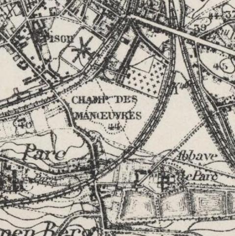 Toestand van het terrein in 1915