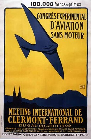 Frankrijk: AFA Congrès Expérimental d'Aviation Sans Moteur 1922