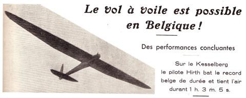 Titel van het artikel in La Conquête de l'Air (1930)
