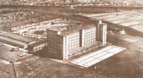 De Philips fabriek rond 1945